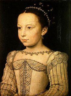 Marguerite de Valois, aged 8. Daughter of Henri II and Catherine de Medici