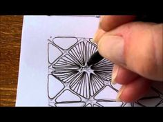 How to draw tanglepattern Nymph - YouTube video by Ellen Wolters