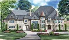 Harwood House Plan: 3 story, 13346 square foot, 5 bedroom, 6 full bathrooms