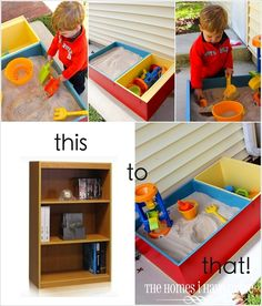 @Hillary Neal  Everett needs this for his backyard! 5 Spring DIY Sandbox Ideas | Cupcakepedia