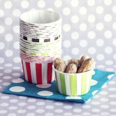 Striped Candy Cups