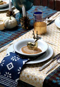 Morocco meets winter wonderland Holiday Tabletop