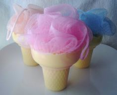 Ice Cream Cone Soap on a Rope by KC Soaps 'n More - clever
