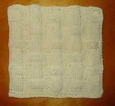 Free Knitting Pattern - Dishclothes & Washcloths : Berry Basket Dishcloth