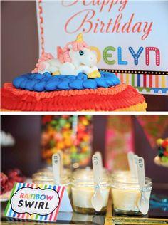 Rainbow unicorn birthday party via kara's party ideas, supplies- www.karaspartyideas.com
