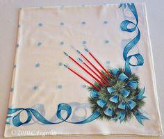vintage Christmas tablecloth...
