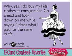 Consignmentmommies.com E-Card Contest Favorites #consignment