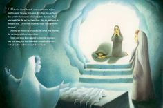 Page spread from Jesus by Anselm Grun, illustrated by Giuliano Ferri. #Easter | EerdBlurbs