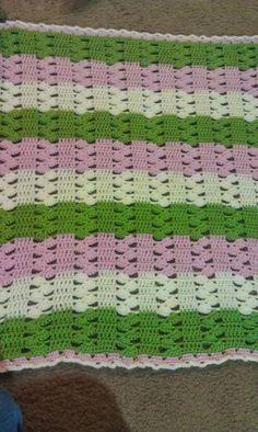 Light & Lacy Crochet Baby Blanket