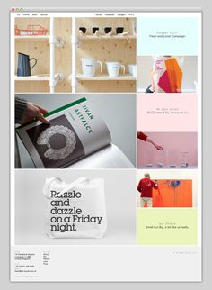 Website grid layout with pops of color #webdesign #grid #layout