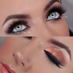 Copper and Gold Evening Summer look makeup videos, eye makeup, summer looks, copper, makeup eye, beauti, hair, evenings, maya mia