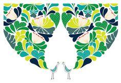 Large 13 X 19 / Little Flower Birds Wedding Night by dekanimal, $35.00
