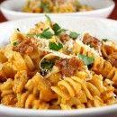 dinner, italian sausag, pasta recipes, pumpkins, recipe girl, delici, creami pumpkin, pastas, pumpkin pasta