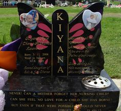 butterfly headstone for a baby girl