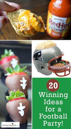 Fall is for football! Love these 20 winning ideas for a successful football party! Fun Food, Decor, Games and Tailgating ideas.