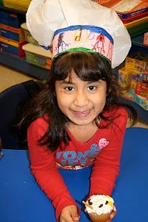 Cute Chef Hats made out of plastic shopping bags!  Community Helper.