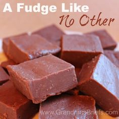 A #Fudge Like No Other -- secret ingredient fudge recipes, childhood recip