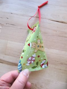 Recycled Christmas Cards…Tiny Gift Box