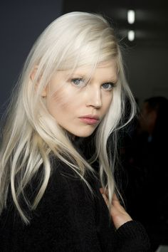 Bleached blonde for Ports 1961 #mfw color, tone, dimension