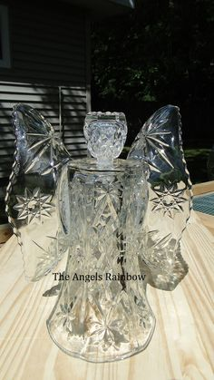 Glass Angel  Upcycled/Repurposed Glass by TheAngelsRainbow on Etsy, $40.00