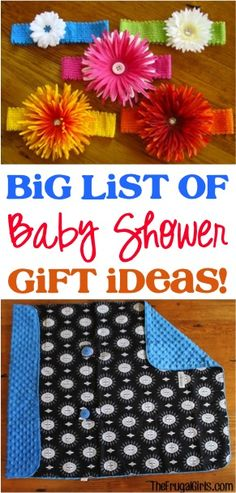 BIG List of Fun Baby Shower Gift Ideas! ~ at TheFrugalGirls.com #baby