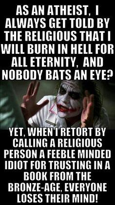 Christian hypocrisy.