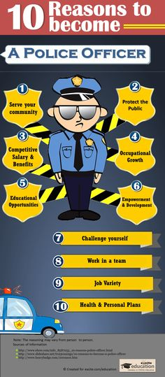 Interesting reasons for becoming a Police Officer! For all those who plan to or are thinking about pursuing a Criminal Justice Degree