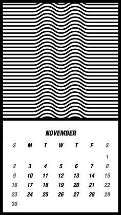 illusion, calendar, 2014 by Kwan , via Behance