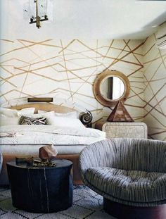 Kelly Wearstler  Porter Teleo Wall coverings pattern - this is one of my favorite wall coverings I've seen in a long time.