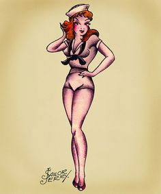 redhead vintage | tattoo # sailor jerry # sailor jerrys # tattoo flash