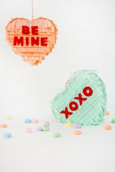 Mini Conversation Heart Pinatas