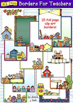 Make any school project cute in a jiffy with our awesome NEW 'Borders for Teachers' clip art collection!