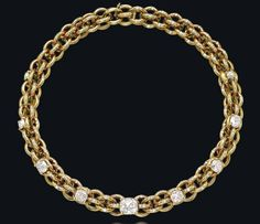 A DIAMOND AND GOLD NECKLACE, BY JAR