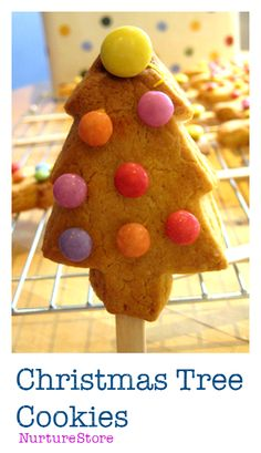 A nice and easy Christmas cookie recipe for kids - Christmas Tree Cookies