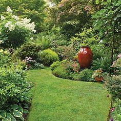 lawn, dream yard, landscaping design, garden paths, focal points