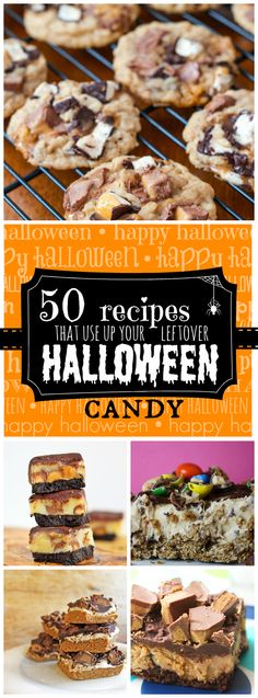50 Recipes to use up your Leftover Halloween Candy | www.somethingswanky.com