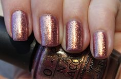 OPI Rally Pretty Pink rose gold shimmer