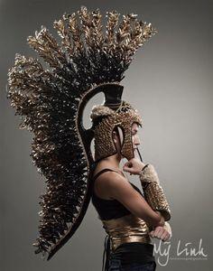 Roman Fantasy - epic headpiece #sculptural #fashion