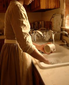 Love washing dishes by hand