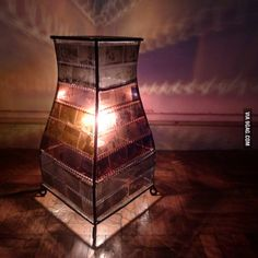 Lamp made from old film negatives