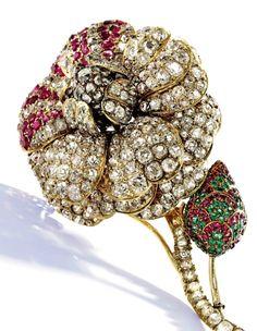 19th Century Flower Brooch