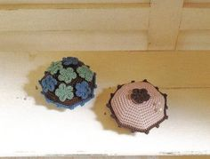 lots of pincushions from Japan, all thread crochet