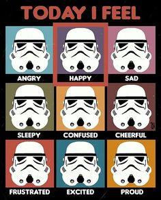 "Star Wars ""Today I Feel"" Feelings Chart"