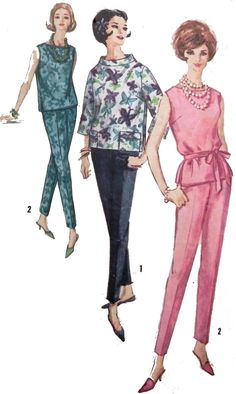 1960s Pants and Blouse sewing pattern by retroactivefuture on Etsy, $8.00