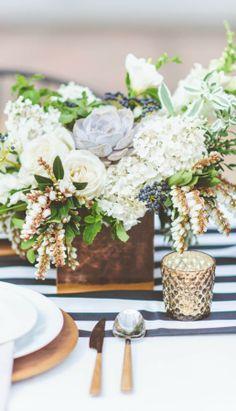 outdoor floral arrangement...