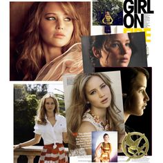 The Girl On Fire, created by shilohfaith on Polyvore