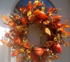 Autumn Beauty Fall Wreath Wreaths For Door http://www.amazon.com/dp/B00LZ7LOS4/ref=cm_sw_r_pi_dp_jWp6tb0APTQAY