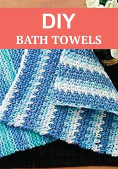 Tired of dingy old towels? Make your own cute DIY bathroom towels with this simple tutorial.  :)