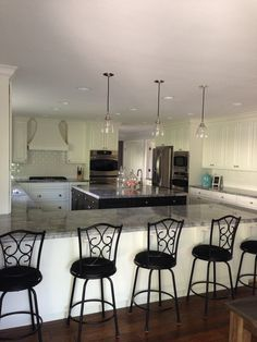 kitchen design, steel applianc, quartzit countertop, truewhit kitchen, dream kitchens, white kitchens