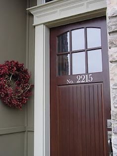 silhouette house numbers